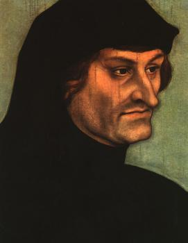 Lucas The Elder Cranach : Portrait of Geiler von Kaiserberg