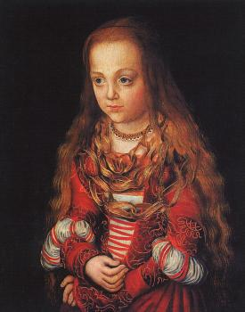 Lucas The Elder Cranach : Portrait of a Saxon Princess