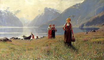 Hans Dahl : A Summers Day