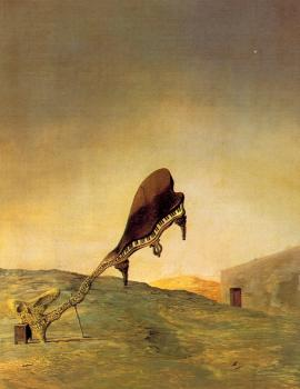Salvador Dali : Skull with its Lyric Appendage Leaning on a Bedside Table Which Should Have the Exact Temperature of a Cardinal's Nest