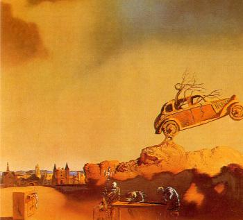 Salvador Dali : Apparition of the Town of Delft