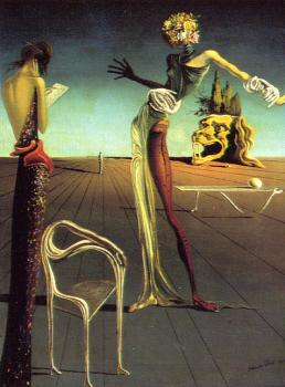 Salvador Dali : Woman with a Head of Roses