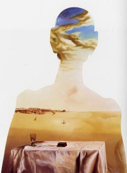 Salvador Dali : A Couple with Their Heads Full of Clouds II