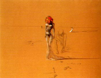 Salvador Dali : Female Figure with Head of Flowers