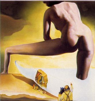 Dali Lifting the Skin of the Mediterranean Sea to Show Gala the Birth of Venus