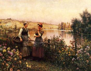Daniel Ridgway Knight : Stopping for Conversation