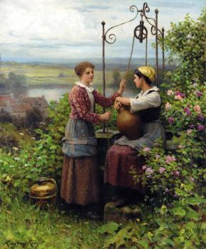 Daniel Ridgway Knight : The Conversation