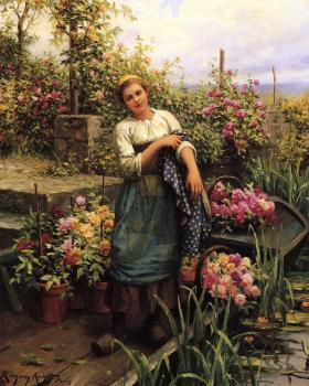 Daniel Ridgway Knight : The Flower Boat