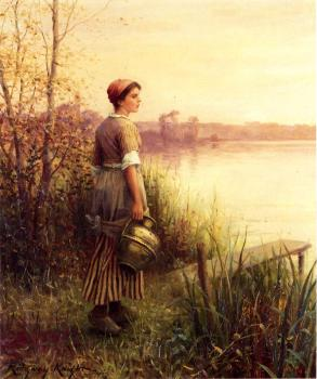 Daniel Ridgway Knight : The Golden Sunset