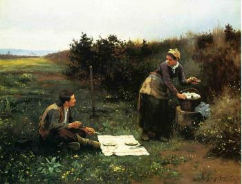 Daniel Ridgway Knight : The Honeymoon Breakfast