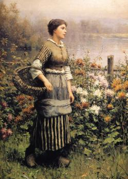 Daniel Ridgway Knight : Maid Among the Flowers