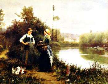 Daniel Ridgway Knight : On the Way to Market
