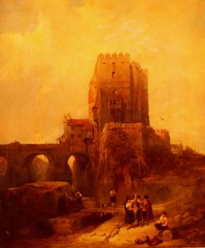 David Roberts : Moorish Tower On The Bridge At Cordiva