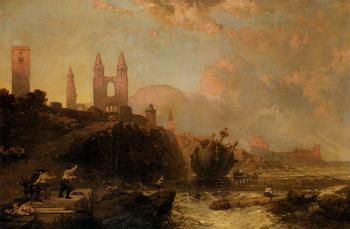 David Roberts : Ruins Of St Andrews Cathedral And Church Of St Regulus Fife Scotland