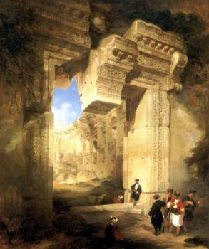 David Roberts : The Gateway of the Great Temple at Baalbec
