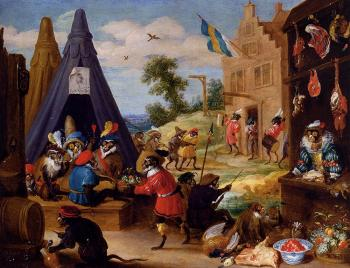 David Teniers The Younger : A Festival Of Monkeys
