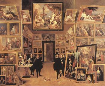 David Teniers The Younger : Archduke Leopold Wilhelm In His Gallery