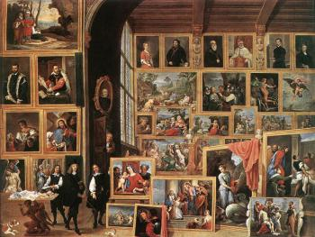 David Teniers The Younger : The Gallery Of Archduke Leopold In Brussels II