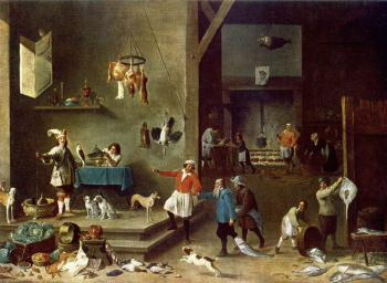 David Teniers The Younger : The Kitchen