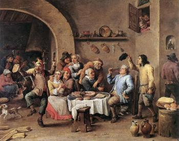 David Teniers The Younger : Twelfth Night The King Drinks