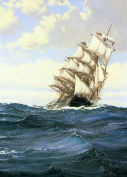 Montague Dawson : A Cloudy Day
