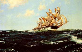 Montague Dawson : Clipper Days, The Glorious Lightning