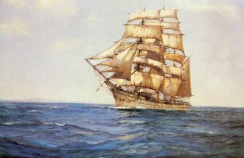 Montague Dawson : The Old White Barque