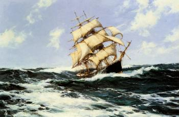 Montague Dawson : The Pacific Combers on the Open Seas