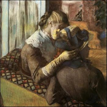 Edgar Degas : At the Milliner's