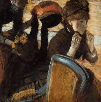 Edgar Degas : At the Milliner's III