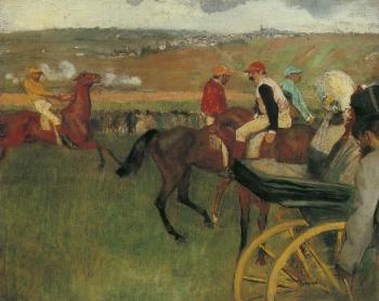 Edgar Degas : At the Races, Gentlemen Jockeys