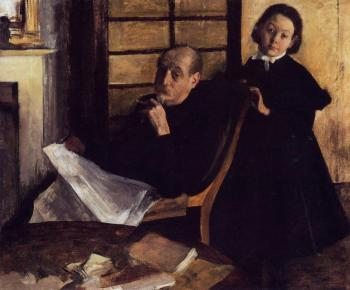 Edgar Degas : Henri De Gas and His Neice, Lucie Degas