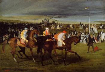 Edgar Degas : At the Races: the Start