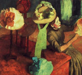 Edgar Degas : The Millinery Shop