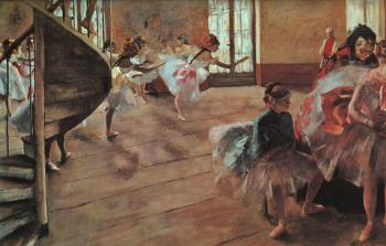 Edgar Degas : The Rehearsal