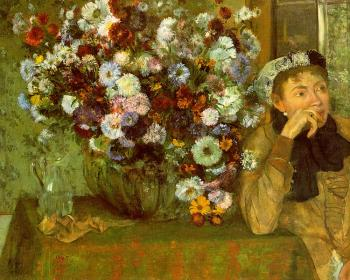 Edgar Degas : Madame Valpincon with Chrysanthemums