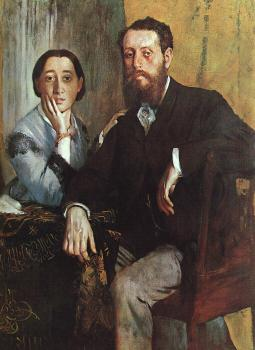 Edgar Degas : The Duke and Duchess Morbilli