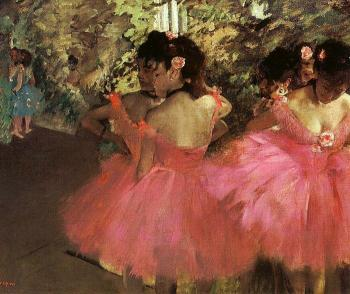 Edgar Degas : Dancers in Pink