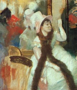 Edgar Degas : Portrait of Madame Dietz-Monnin(Portrait after a Costume Ball)
