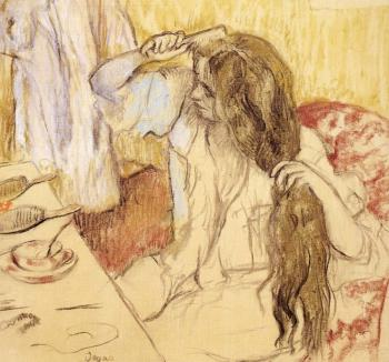 Edgar Degas : Woman At Her Toilet