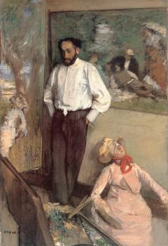Edgar Degas : Portrait of the Painter Henri Michel-Levy