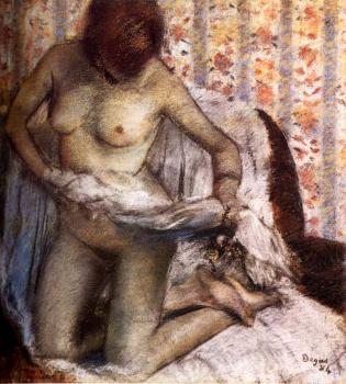 Edgar Degas : After The Bath III