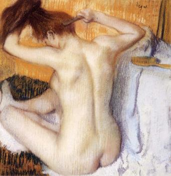 Edgar Degas : Woman Combing Her Hair
