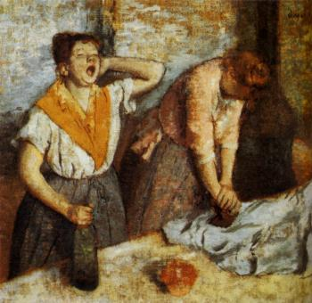 Edgar Degas : Women Ironing