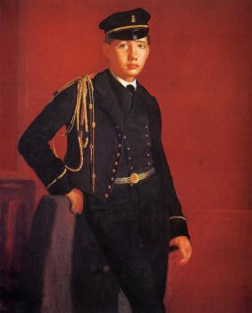 Edgar Degas : Achille De Gas (The Artist Brother) in the Uniform of a Cade