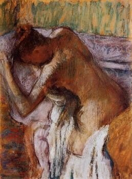 Edgar Degas : After the Bath VII