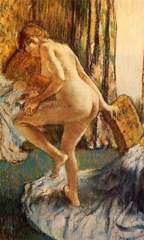 Edgar Degas : After the Bath VIII