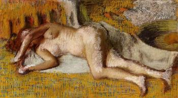 Edgar Degas : After the Bath IX