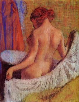 Edgar Degas : After the Bath XI