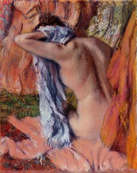 Edgar Degas : After the Bath XII